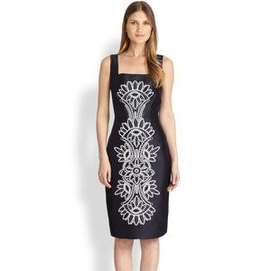 💕HP💕Tory Burch Lily Navy Blue Embroidered Dress